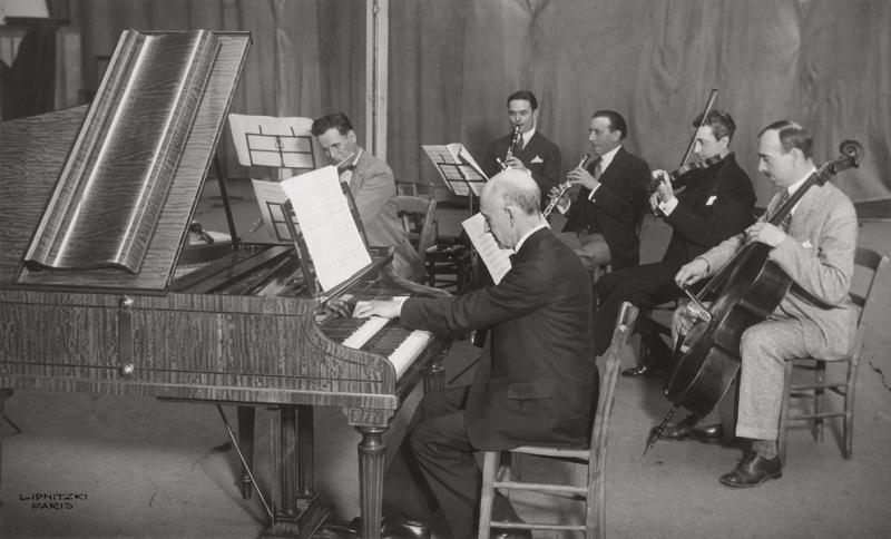 Manuel de Falla playing his harpsichord concerto