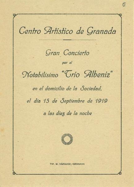 Programa original de 1919